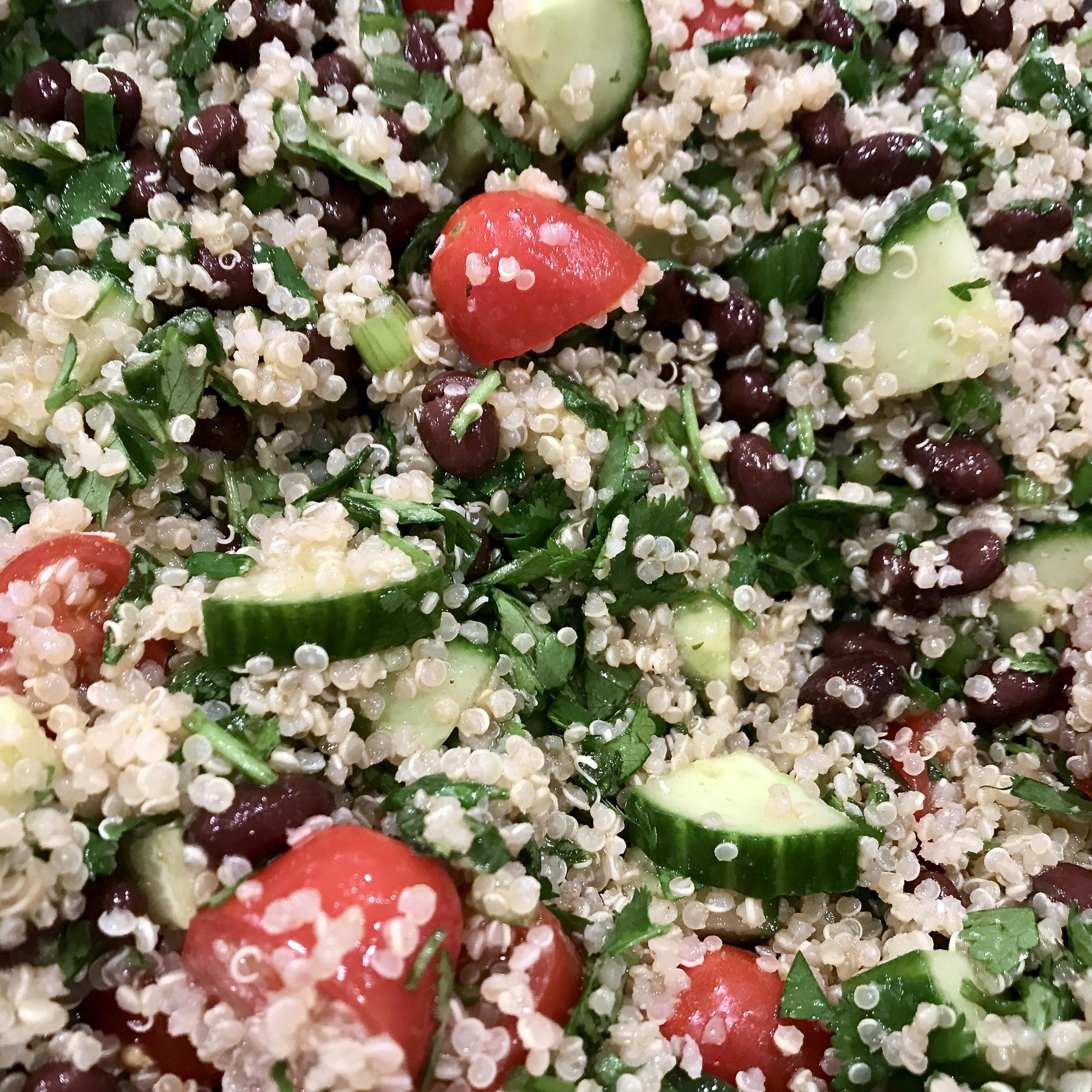 Zesty Black Bean Quinoa Salad